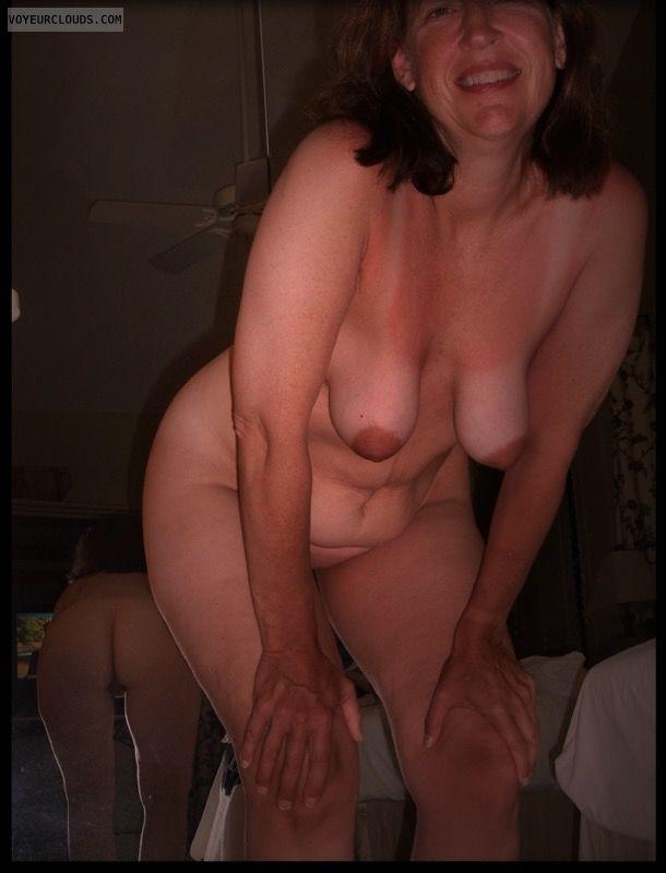 Mirror, Pretty smile, Hanging Tits, Ok Tits, Dark Nips