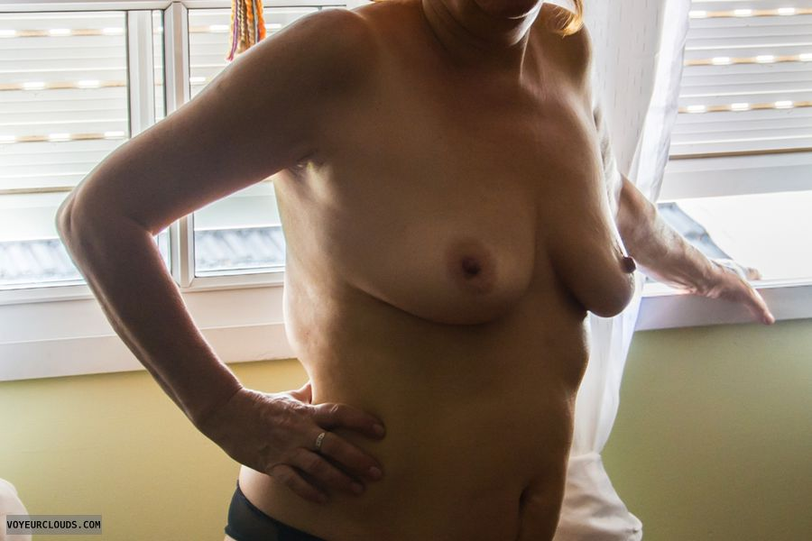 tits, nude, mature tits, hard, hard nipples, panties