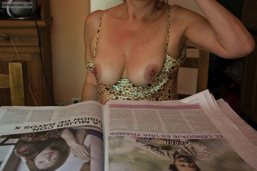 tits, mature tits, hard nipples, tits out