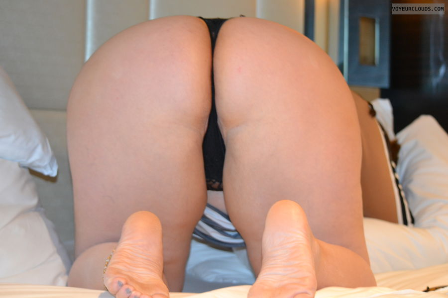 legs, panties, thong, ass, toes, bent over, wide hips