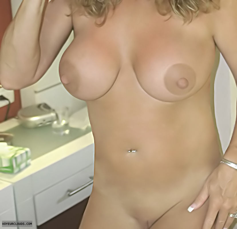 Nude Wife, Shaved Pussy, Hard Nipples, Big Tits, Horny Wife