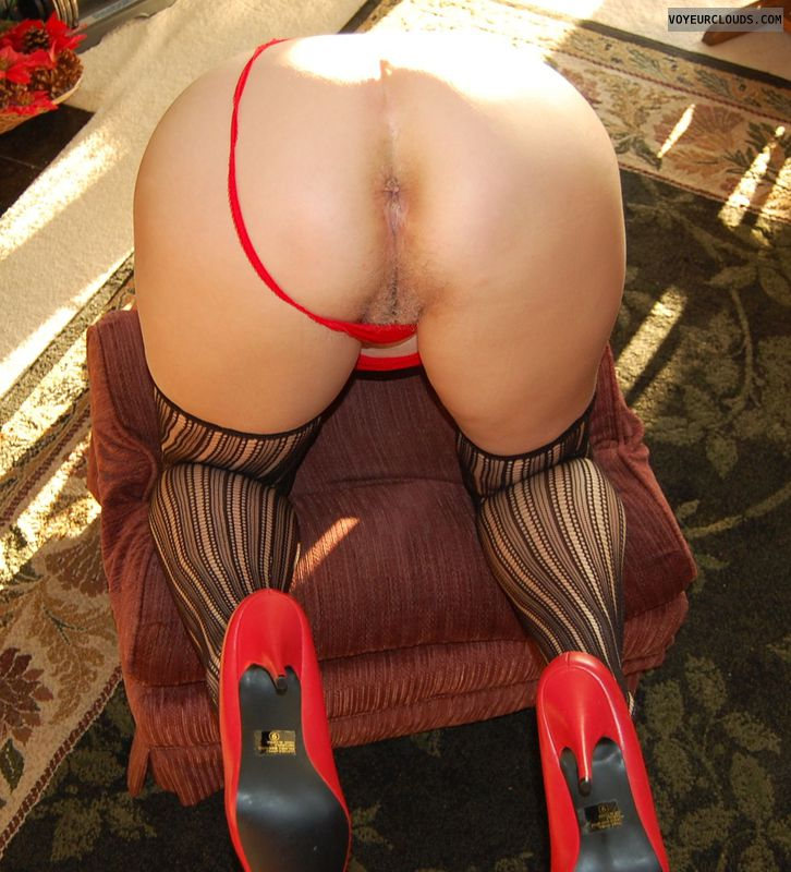 Senior, GILF, Mature, nylons, ASS, heels, legs, thong