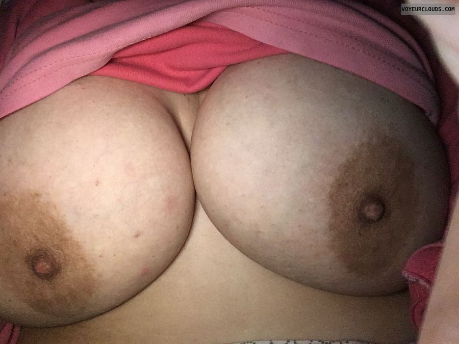 tits out, big tits, big boobs, braless, hard nipples