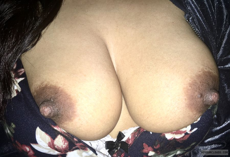 My very erect nipples