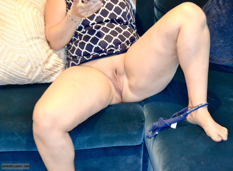 Pussy, shaved pussy, legs, upskirt, g-string, panties