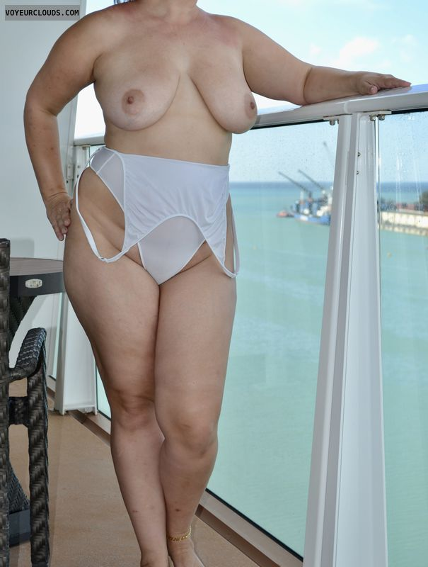 breats, nipples, wicked weasel, cruise ship, balcony