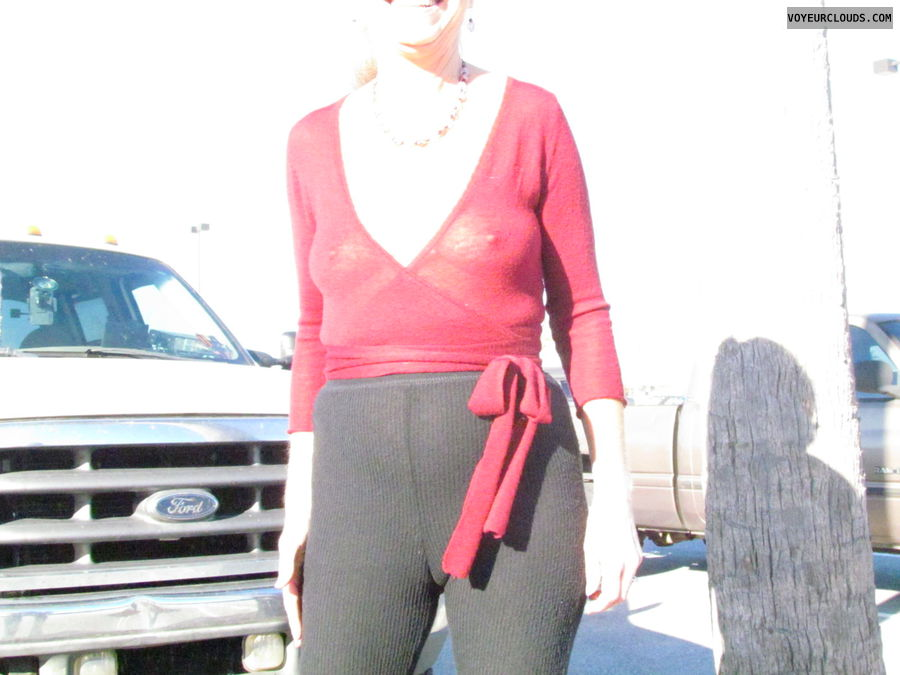 tit, sheer blouse, camel toe, cammando, sub wife, exhibitionist