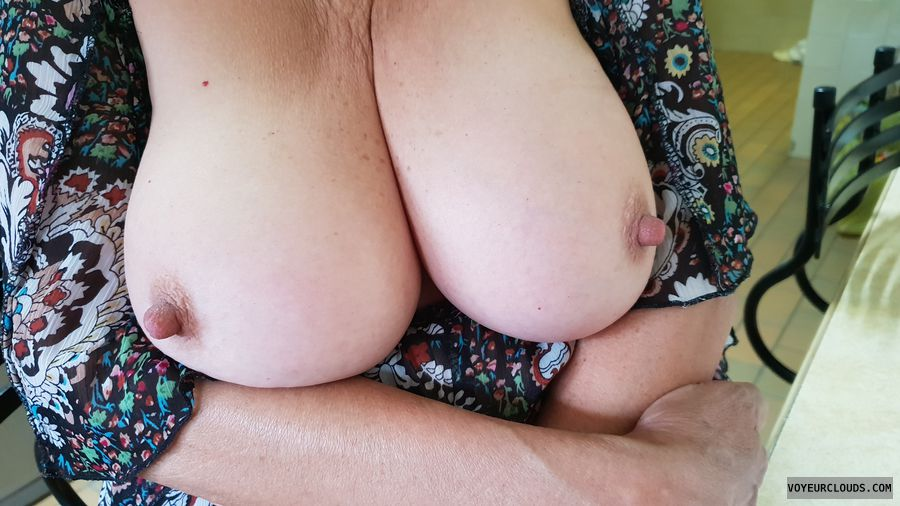 Tots out, New Year, Big tits, Long nipples, Big nipples