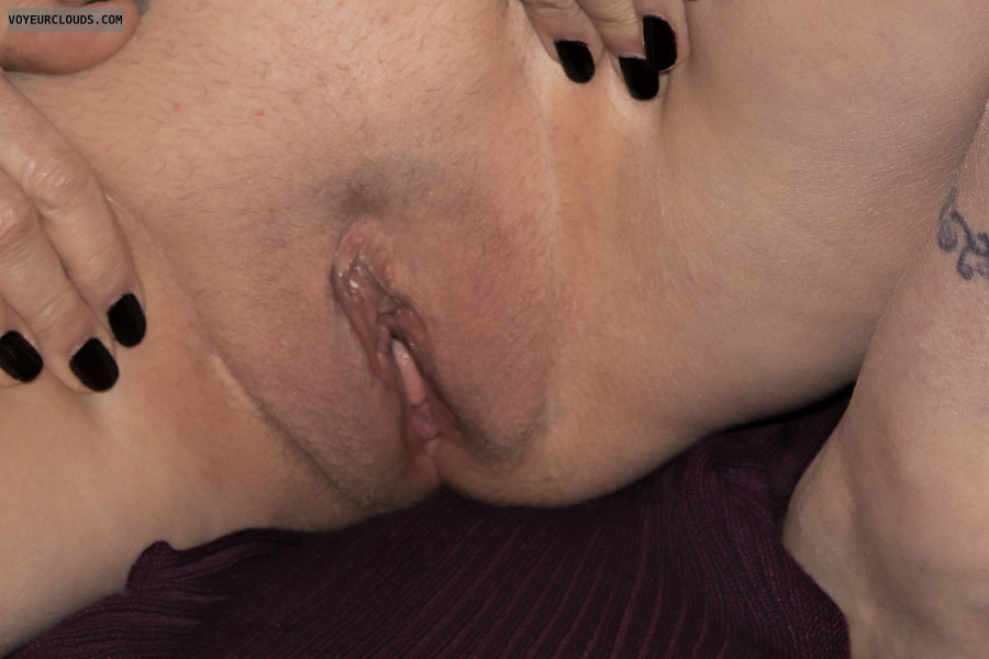 pussy, shaved, closeup, wet, clit