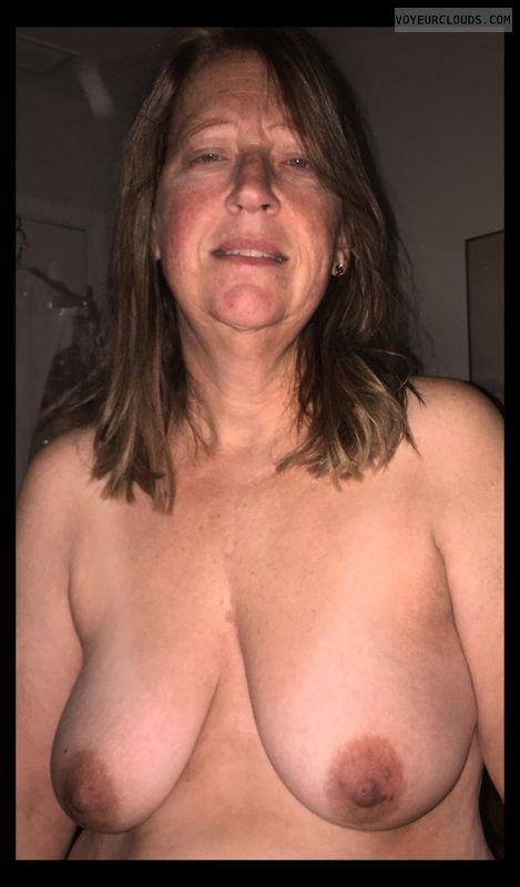 OK Tits, Brown nips, Saggy boobs, OK Smile, 36D, Immature