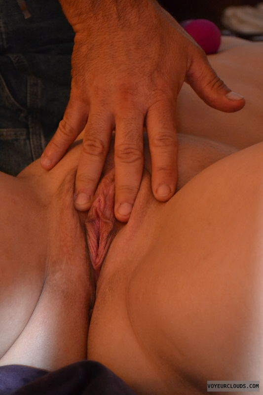 Pussy, shaved pussy, wet, legs, fingers