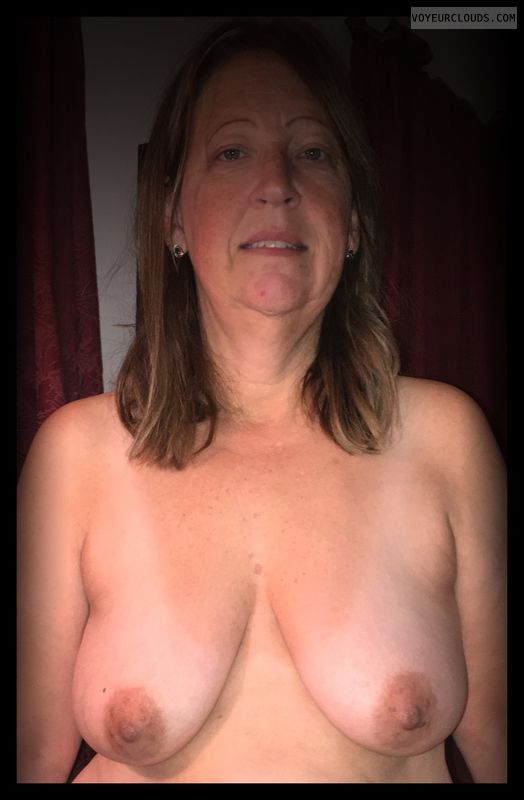 OK Tits, Brown nips, 36D, Immature, Smirk