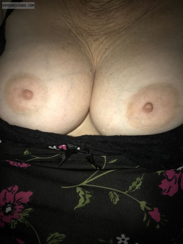 Wife's tits, mature, nude wife