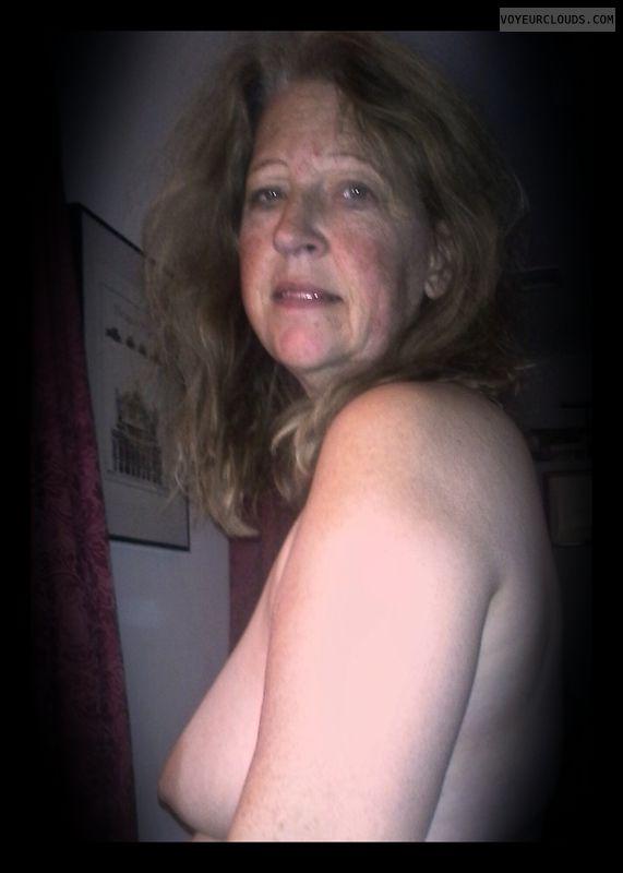 Smirk, Side boob, 36D, Nude wife, Immature
