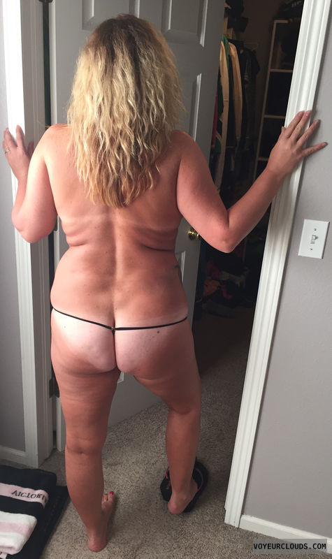 Thong, chubby, ass, wife