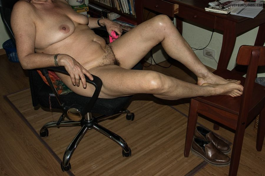 nude wife, tits, legs, pussy