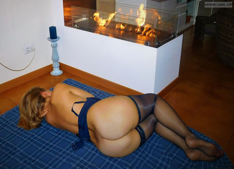 anna, wife, ass, lingerie, stockings