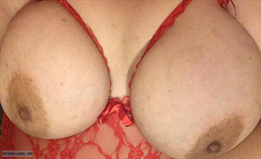 lingerie, lace, red, tits out, big tits, big boobs