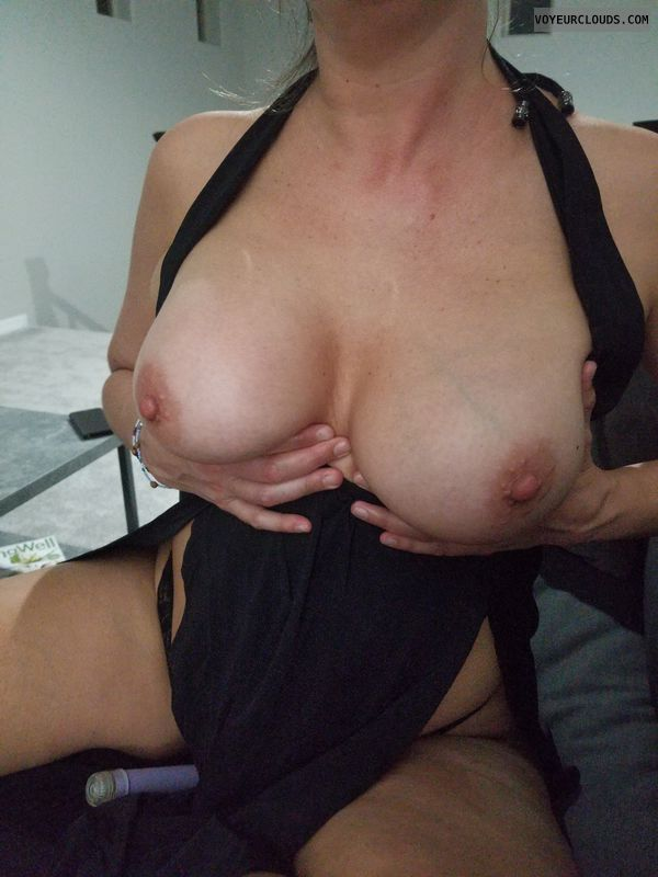 tits, big boobs, hard nipples, boobs out, open legs