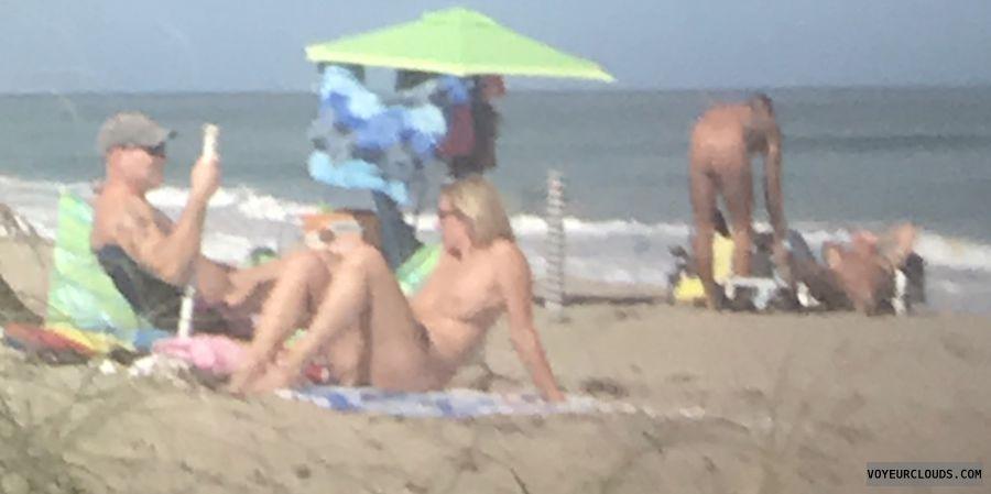 public beach, nude, tits