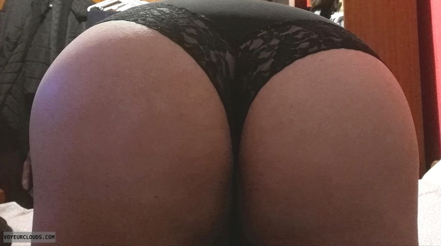 big ass, panties, lace, black, bend over, round ass