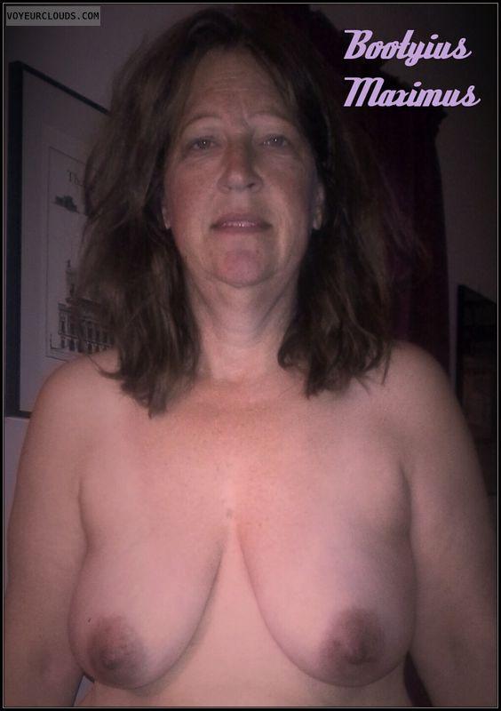 Booty Max, Smirk, AARP, OK Boobs, 36D, Dark Nips, Humiliated