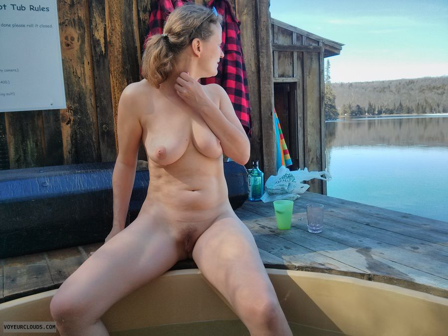 Natural Beauty, Outdoors, Big Tits, Blonde
