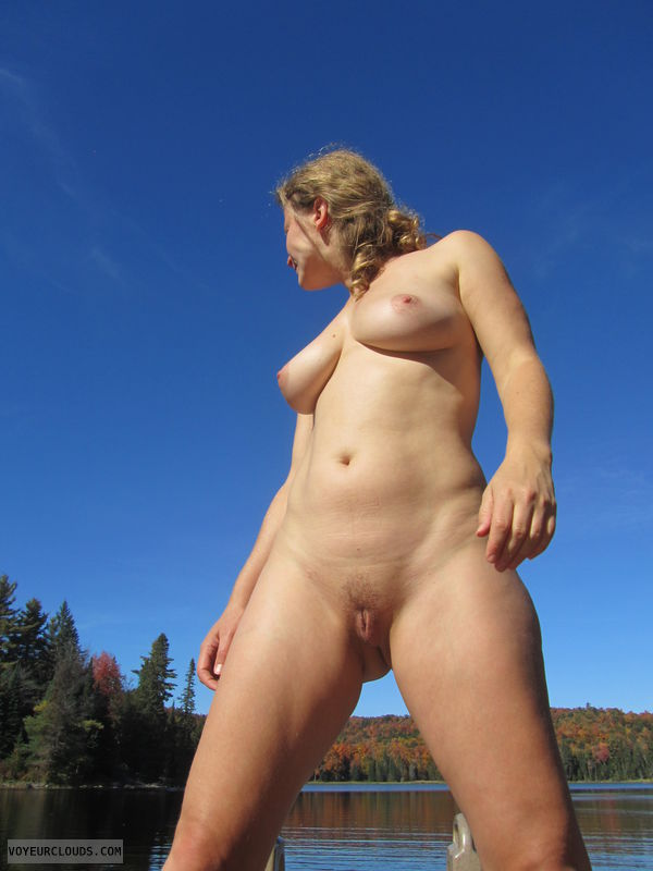 Natural Beauty, Blonde, Outdoors, Trimmed Pussy