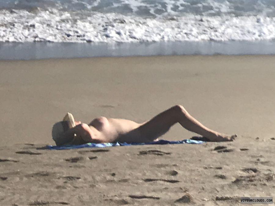nude, beach, tits, spread, legs