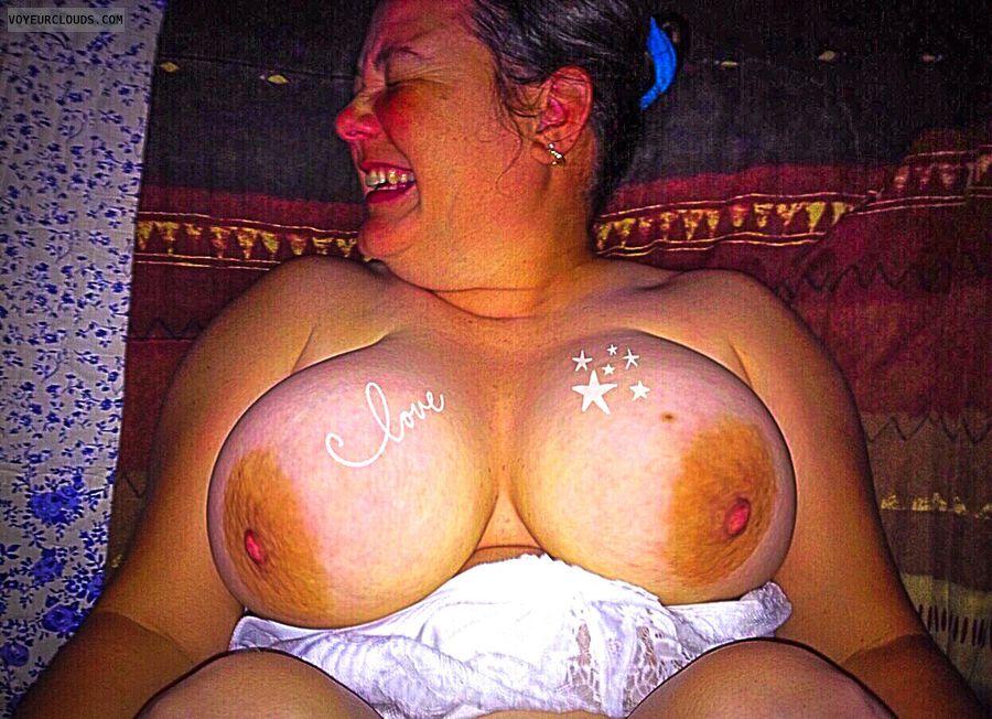 Big boobs, big tits, wife fuck, pov, nude wife, nipples