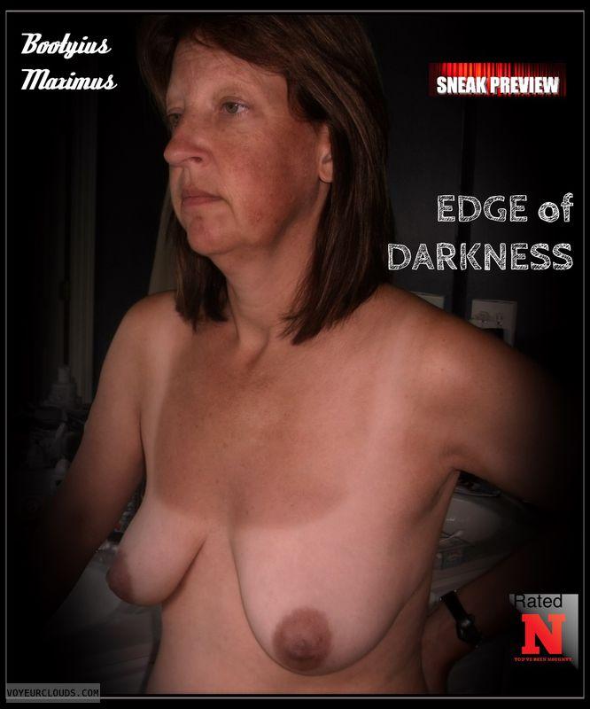 Brown nips, 34B, Dark nips, Titflash, OK Boobs, Humiliated