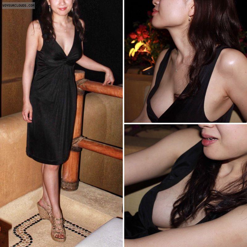 Non-nude, little black dress, escort, no underwear