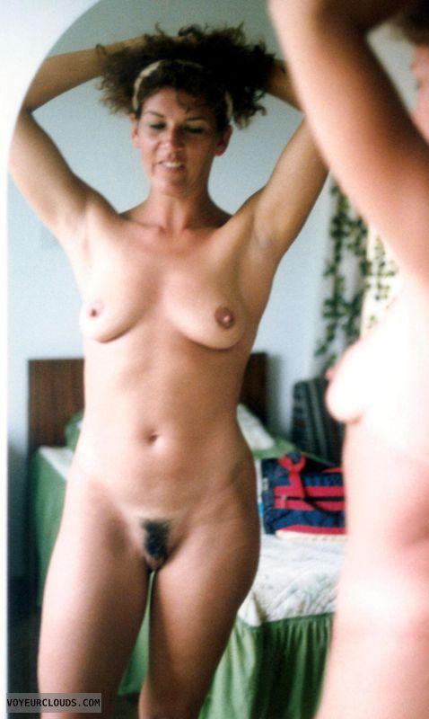 full frontal, naked, nude, tits, landing strip, bush