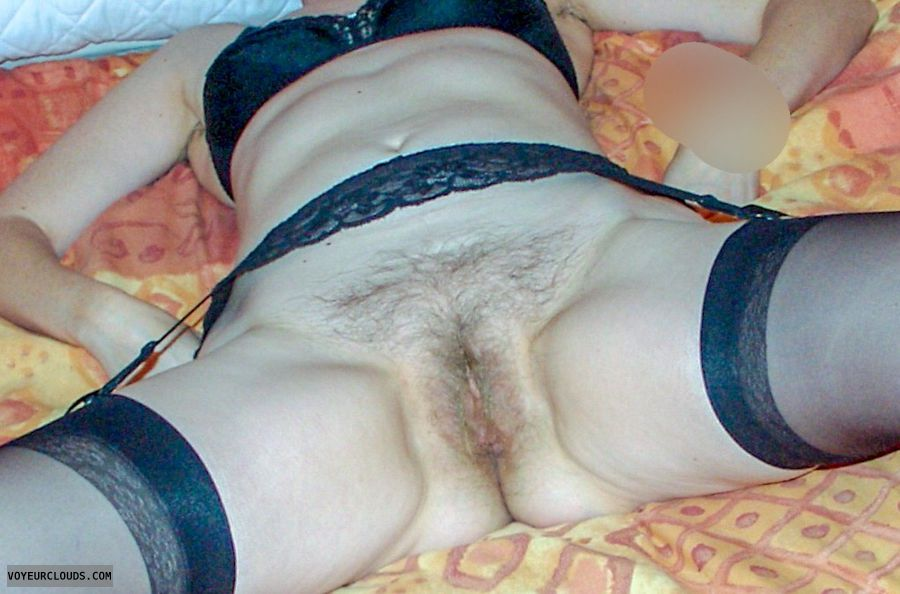 Wife's pussy, milf pussy, spread legs, Hairy pussy