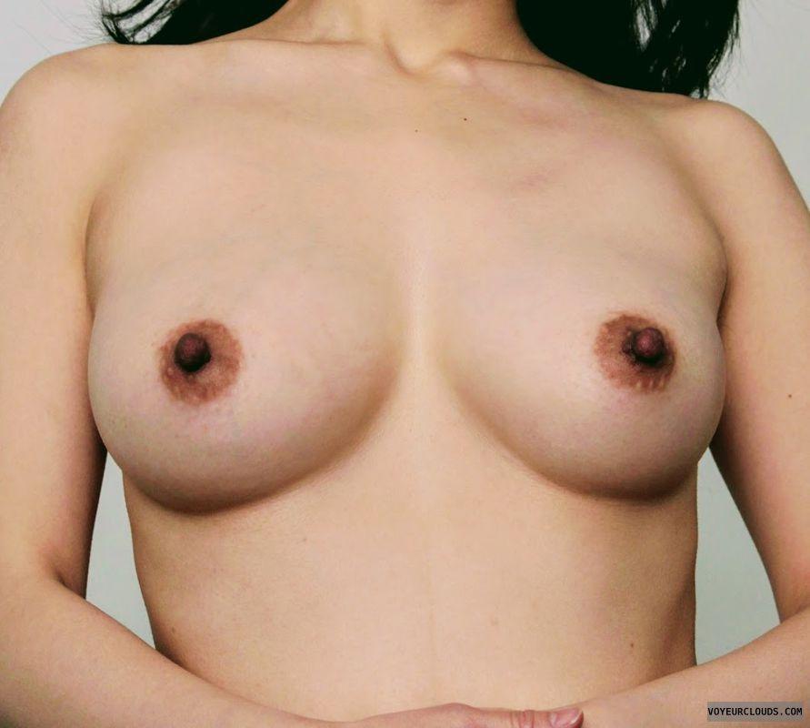 cute tits, nude wife, hotwife, hard nipples, slut wife