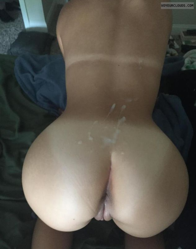 Nude wife, pussy, doggy, ass, cum, wife, milf, tits