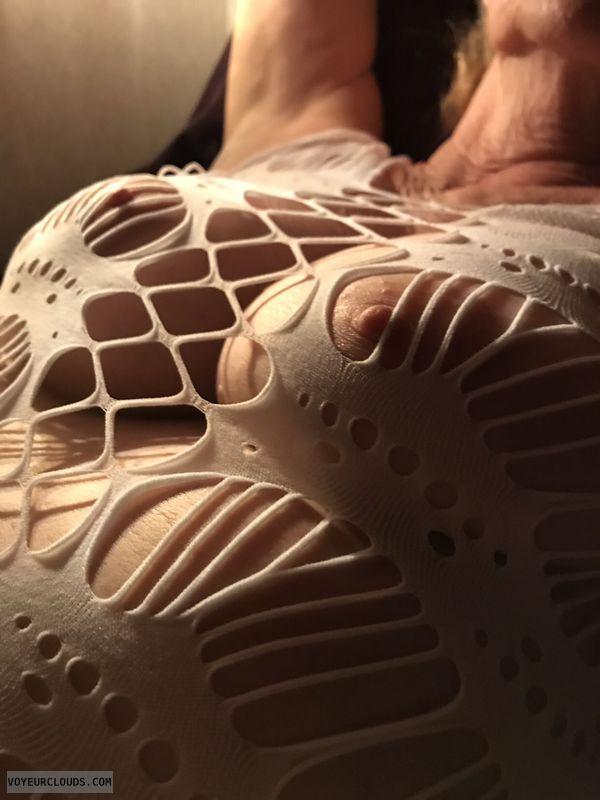 hard nipples, braless, big boobs, Mature milf, sexy tits