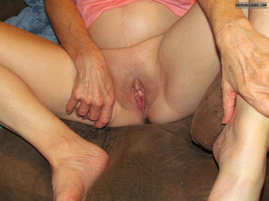 wet pussy, smooth pussy, exhibitionist, horny wife