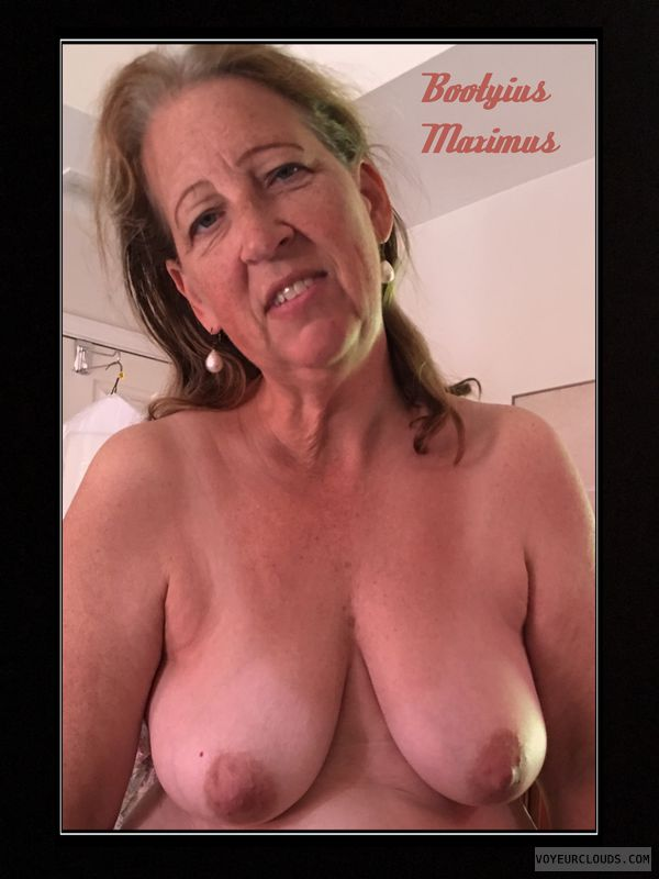 OK Boobs, 36D, Brown nips, AARP, Saggy tits, OK Smile